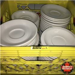 CHOICE OF 12:  Milk Crate Lot: Dinerware Saucers (Approx 80)