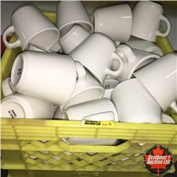 CHOICE OF 12:  Milk Crate Lot: Dinerware Coffee Cups (Approx 50)