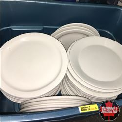 CHOICE OF 12:  Tote  Lot: Dinerware Dinner Plates (Approx 50)
