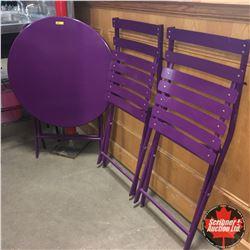 Bistro Set: Purple