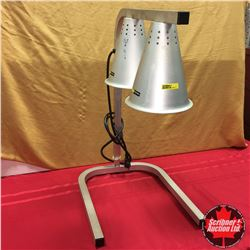 "CHOICE OF 2:  ""Admiral"" 2 Bulb Professional Free Standing Heat Lamp, Twin, Aluminum"