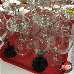 CHOICE OF 5:  Tray Lot: Assorted Wine Glasses (19)