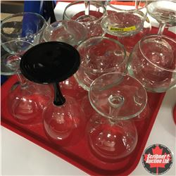 CHOICE OF 5:  Tray Lot: Assorted Wine Glasses (16)