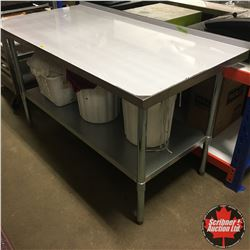 NEW Stainless Steel 2 Tier Work Table 5'