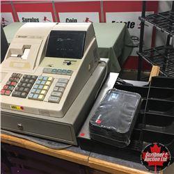 Sharp Electric Cash Register w/Credit Card Trays