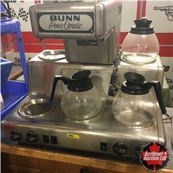 BUNN 4-Omatic Coffee Maker (5 Burners & 3 Pots) 220V (No Filter Basket)