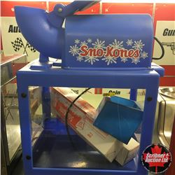Sno-Kones Machine w/Cones & Dispenser