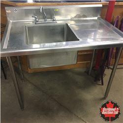 NSF Stainless Steel Sink 4'
