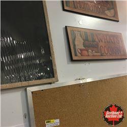 Black Board, Cork Board & Wall Décor Signs