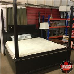 King Size - Four Post Bed w/Stearns & Foster Mattresses