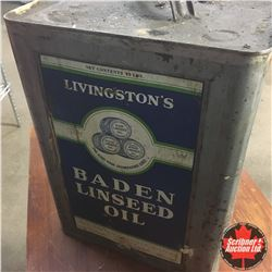 Baden Linseed Oil Large Square Tin