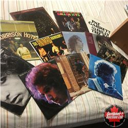 Record Album Carry Case with 12 Albums (Incl: Jimmy Hendrix, Bob Dylan, Doors, etc)