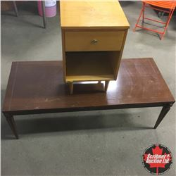 Vintage End Table & Retro Coffee Table