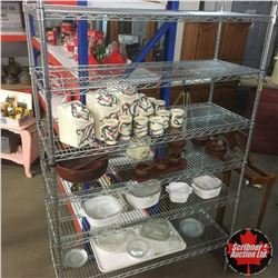 "Stainless Steel Shelving Unit 72"" x 48"" x 18"""