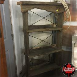 Rustic Barn Board Shelving Unit w/Lariat