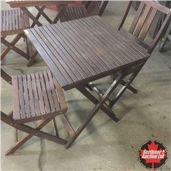 CHOICE OF 2: Wood Slat Bistro Set