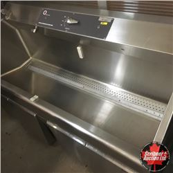 Two Station Scrub-Up Sink, Knee Operated Soap and Water Pump, Stainless Steel, 60""