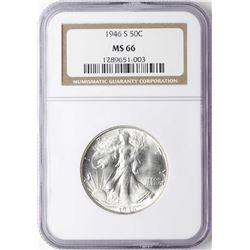 1946-S Walking Liberty Half Dollar Coin NGC MS66