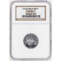 2002 $25 Platinum American Eagle Coin NGC MS69