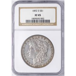 1892-S $1 Morgan Silver Dollar Coin NGC XF45