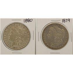 Lot of 1879-1880 $1 Morgan Silver Dollar Coins