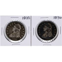 Lot of 1835-1836 Capped Bust Half Dollar Coins