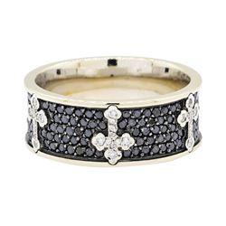 14KT White Gold 2.62 ctw Black Diamond Ring