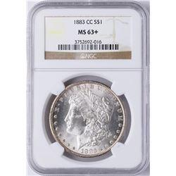 1883-CC $1 Morgan Silver Dollar Coin NGC MS63+