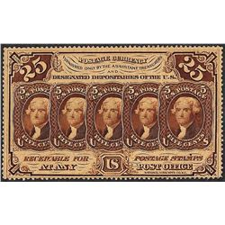 July 17, 1862 25 Cents First Issue Perforated Fractional Currency Note