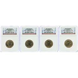 Lot of (4) 2007 George Washington Presidential Dollar Coins NGC MS65 FDOI