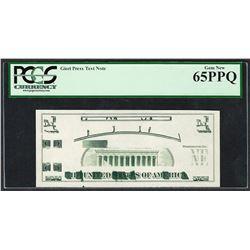 Giori Press Test Note PCGS Gem New 65PPQ