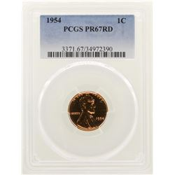 1954 Lincoln Wheat Cent Proof Coin PCGS PR67RD