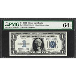 1934 $1 Funnyback Silver Certificate Note Fr.1606 PMG Choice Uncirculated 64EPQ
