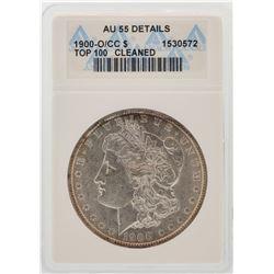 1900-O/CC $1 Morgan Silver Dollar Coin Top-100 ANACS AU55 Details