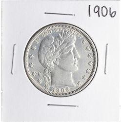 1906 Barber Half Dollar Silver Coin