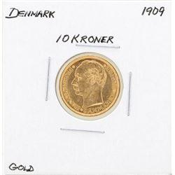1909 Denmark 10 Kroner Gold Coin