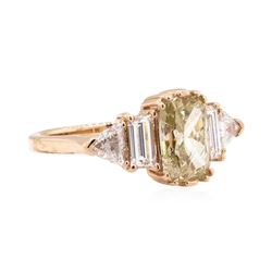 14KT Rose Gold 2.64 ctw Diamond Ring