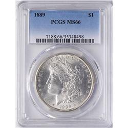 1889 $1 Morgan Silver Dollar Coin PCGS MS66