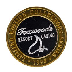 .999 Silver Foxwoods Resort Rhode Islands Casino $10 Limited Edition Gaming Toke