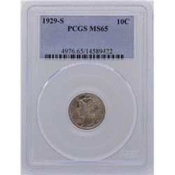 1929-S Mercury Dime Coin PCGS MS65