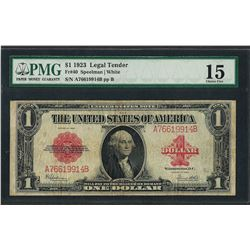1923 $1 Legal Tender Note Fr.40 PMG Fine 15