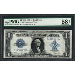 1923 $1 Silver Certificate Note Fr.237 PMG Choice About Uncirculated 58EPQ