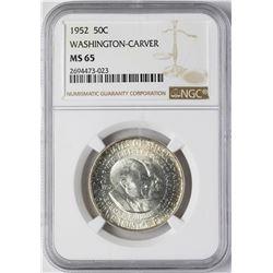 1952 Washington-Carver Commemorative Half Dollar Coin NGC MS65