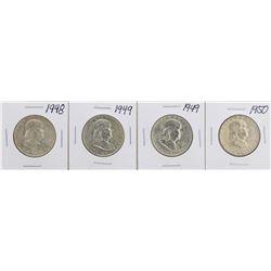 Lot of (4) Franklin Half Dollar Coins