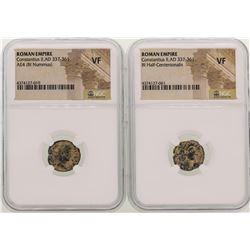 Lot of Constantius II A.D 337-361 Ancient Roman Empire Coins NGC  VF