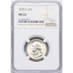 1935-S Washington Quarter Coin NGC MS63
