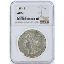 1893 $1 Morgan Silver Dollar Coin NGC AU58