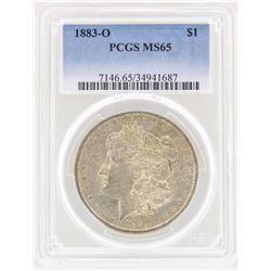 1883-O $1 Morgan Silver Dollar Coin PCGS MS65