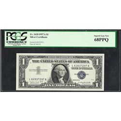 1957A $1 Silver Certificate Note PCGS Superb Gem New 68PPQ