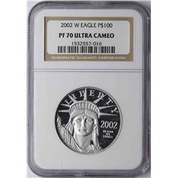 2002-W $100 Platinum American Eagle Coin NGC PF70 Ultra Cameo